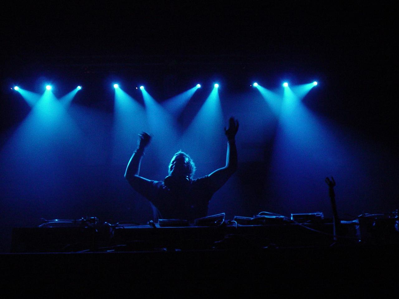 DJ Blue backlit